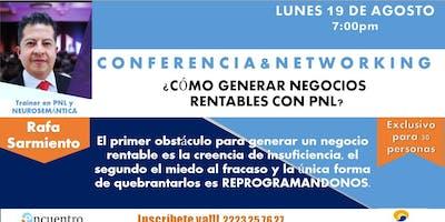 PUEBLA  Como Generar Negocios Rentables con PNL Conferencia y Networking