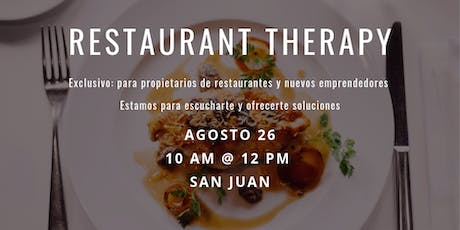 The Restaurant Therapy tickets