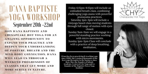D'ana Baptiste Weekend Yoga Workshop