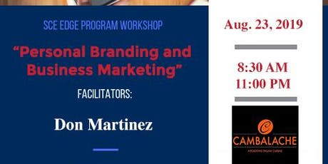 Personal Branding and Business Marketing Workshop tickets