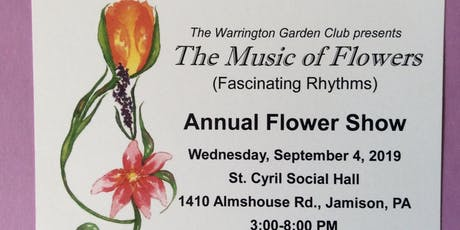 Warrington Garden Club Flower Show tickets