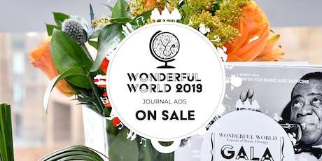 Wonderful World 2019: Journal Ad Sales tickets