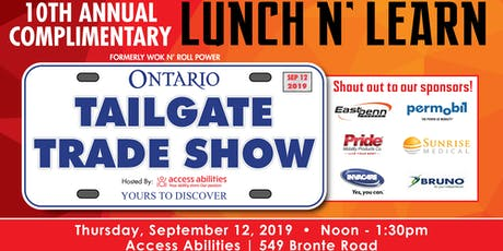 10th Annual Lunch N Learn-Tailgate Trade Show(formerly Wok n Roll Pwr W/C) tickets