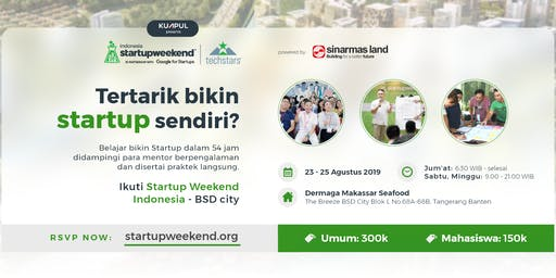 Startup Weekend Indonesia - BSD City
