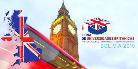 Feria de Universidades Británicas en Santa Cruz de la Sierra, Bolivia tickets
