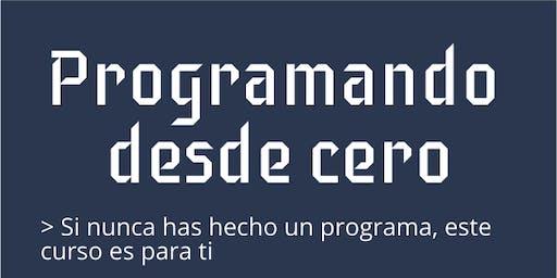 Programando desde cero