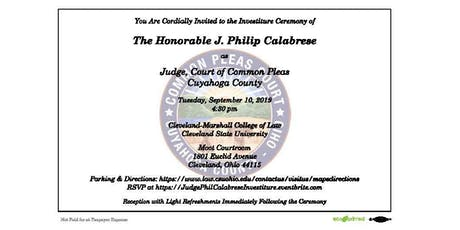 Investiture of Judge Phil Calabrese tickets