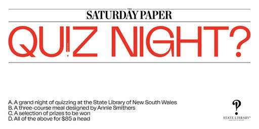 The Saturday Paper Quiz Night | September 2019