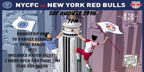 NYCFC vs RED BULLS BUS  TRIP tickets