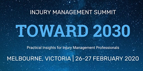 Toward 2030 - Injury Management Summit entradas
