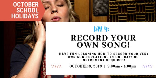 Record Your Own Song! | OCTOBER School Holidays at Sydney Voice Studio