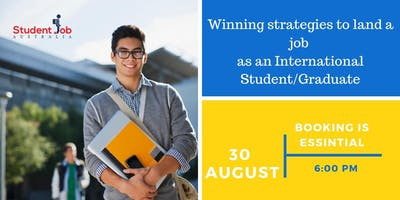 Winning strategies to land a job as an international student/graduate