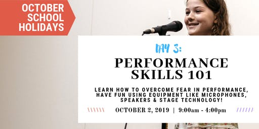 Performance 101:Tech, Stage & Mics!|OCTOBER School Holidays at Sydney Voice