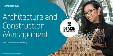 Architecture and Construction Management - Course Information Evening tickets