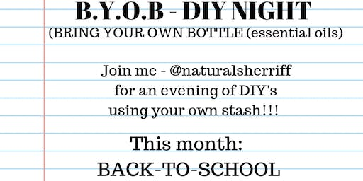 BYOB ( bring your own bottle) essential oil DIY's - Back-to-school rollers