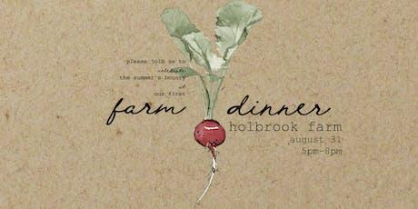 Farm Dinner tickets