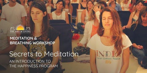 Secrets to Meditation in Charlotte - An Introduction to The Happiness Program (Online Zoom Session)