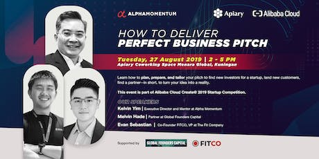How to Deliver the Perfect Business Pitch by Alpha Momentum tickets