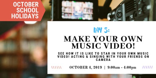 Make Your Own Music Video!|OCTOBER School Holidays at Sydney Voice Studio