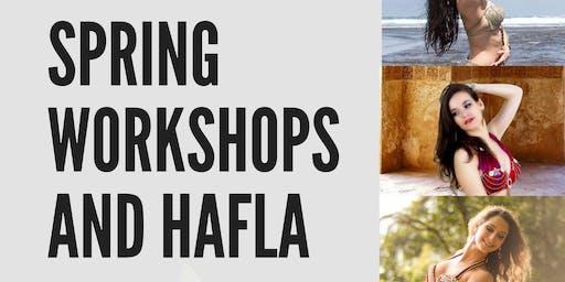Spring Belly Dance Workshops and Hafla