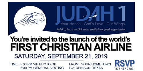 Judah 1, Inc. Launch and Donor Dinner