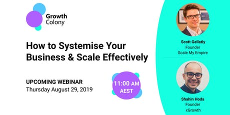 How to Systemise Your Business & Scale Effectively tickets
