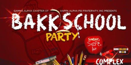 KAPPAS BACK 2 SCHOOL PARTY tickets