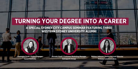 Turning Your Degree into a Career tickets