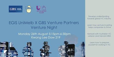EGIS x GBS Venture Partners Venture Night tickets