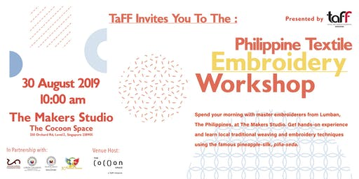 Philippine Textile Embroidery Workshop