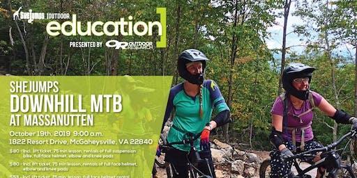 VA SheJumps Downhill Day at the Massanutten Bike Park