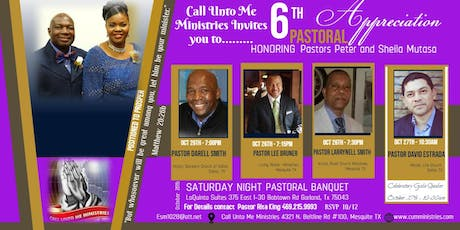 6TH Pastoral Appreciation Honoring Pastors Peter and Sheila Mutasa tickets