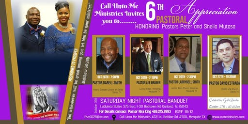 6TH Pastoral Appreciation Honoring Pastors Peter and Sheila Mutasa