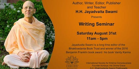 Writing Seminar w/ Author and Editor HH Jayadavaita Swami tickets