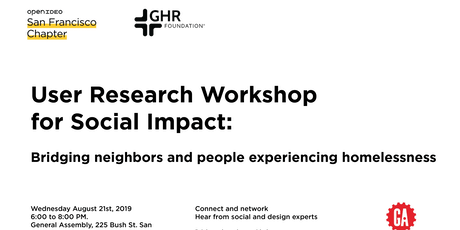 OpenIDEO SF: User Research Workshop for Social Impact tickets