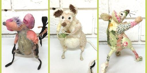 Textile Sculptures - Raggedy Rat