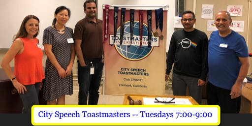 Public Speaking and Leadership - City Speech Toastmasters (At Newark Library)