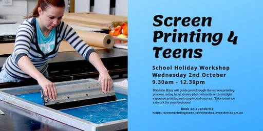 Screen Printing for Teens