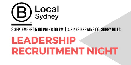B Local Sydney Leadership Recruitment Night  tickets