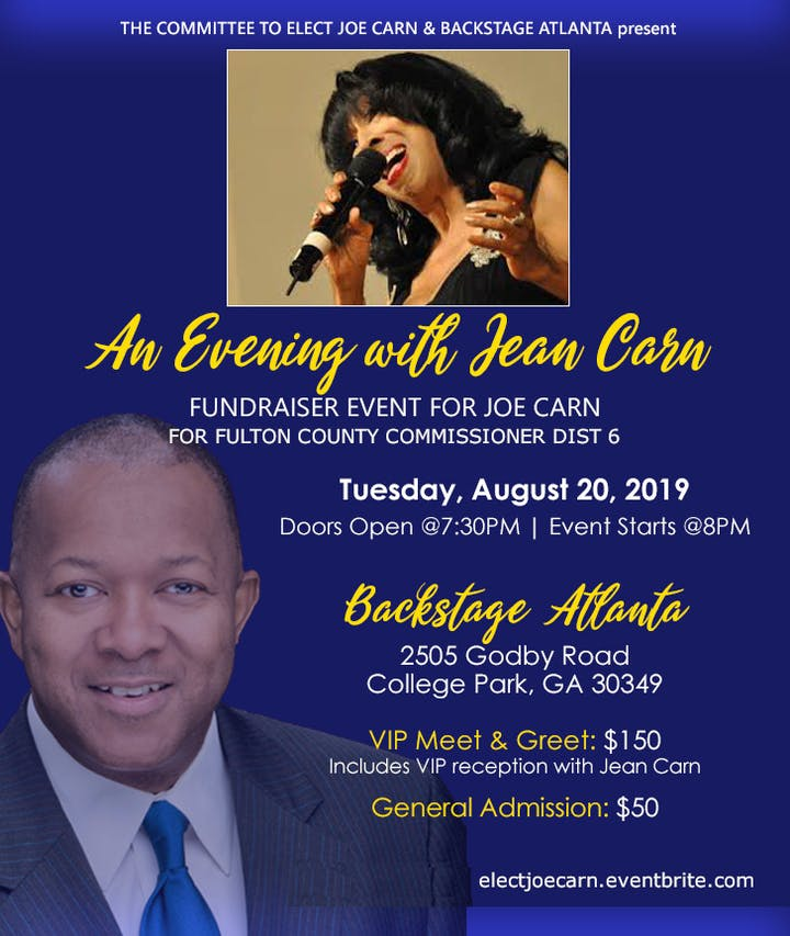An Evening with Jean Carn - A Fundraising Benefit for Joe Carn