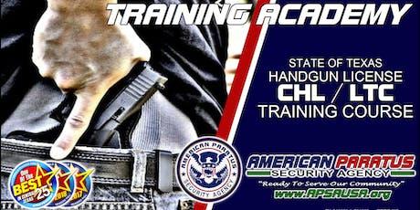 Killeen, TX / LTC License to Carry a Handgun Class (CHL, CCW)  tickets