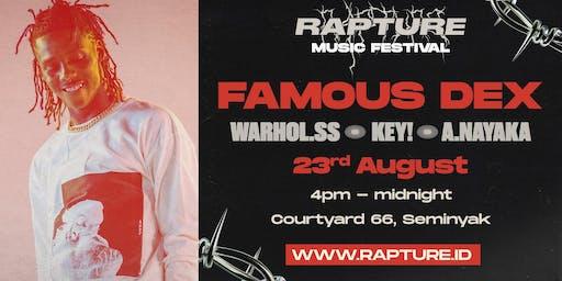 Famous Dex at Rapture Music Festival Bali