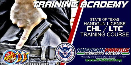 Killeen, TX / LTC License to Carry a Handgun Class (CHL, CCW)  tickets