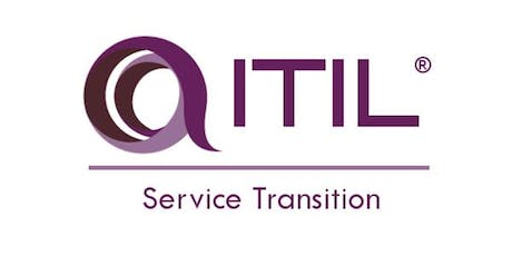 ITIL – Service Transition (ST) 3 Days Virtual Live Training in Montreal tickets