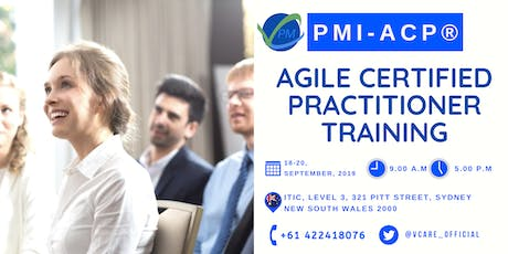 PMI ACP Training | Exam | Sydney | September | 2019 tickets