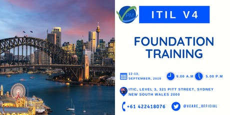 ITIL V4 | Exam |Foundation | Certification | Sydney | September | 2019 tickets
