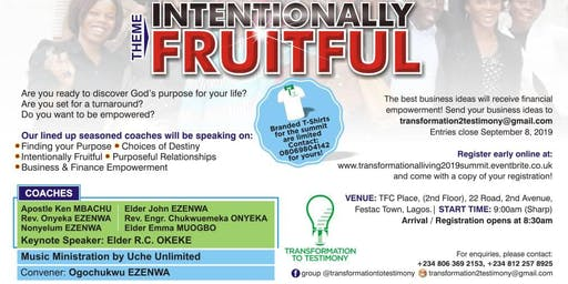 "The Transformation to Testimony Summit: ""Intentionally Fruitful"""