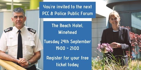 PCC & Police Public Forum: Minehead tickets