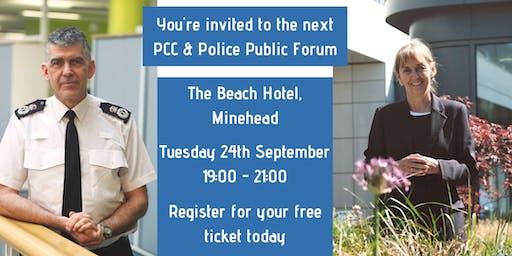 PCC & Police Public Forum: Minehead
