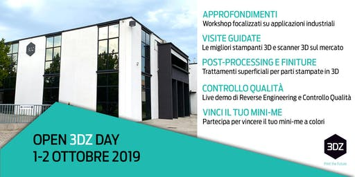 Metal X La stampa 3D metallo alternativa  - OPEN 3DZ DAY - 1 ottobre 2019